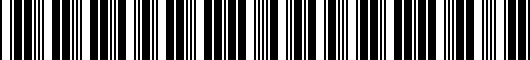Barcode for 002003297033