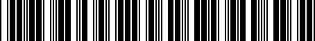 Barcode for PT27800160