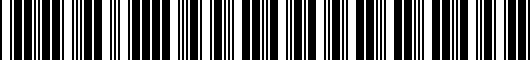 Barcode for PT7380220002
