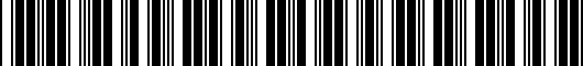 Barcode for PT9080217002