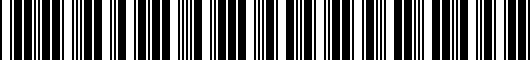 Barcode for PT9323518002