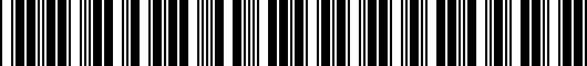 Barcode for PT9360811020
