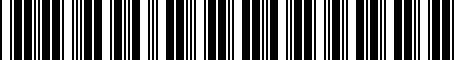 Barcode for PTR0702140